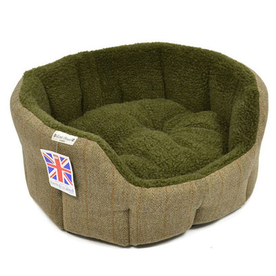 Earthbound Luxury Tweed Dog Bed