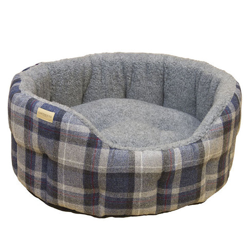 Earthbound Luxury Tweed Check Dog Bed