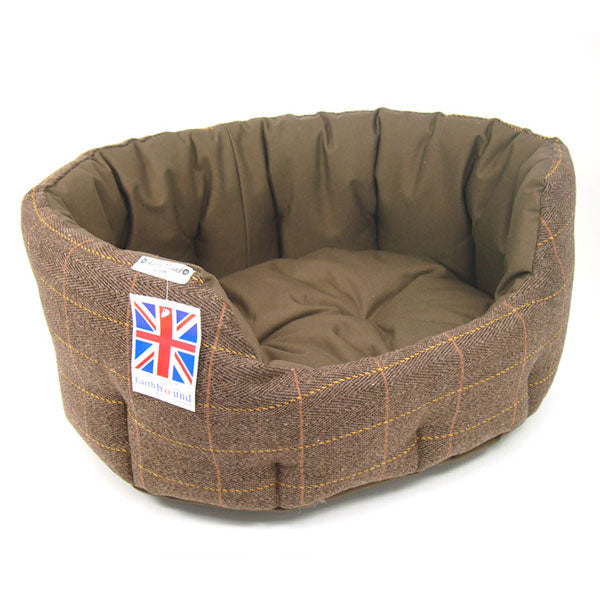 Earthbound Luxury Tweed & Waterproof Dog Bed