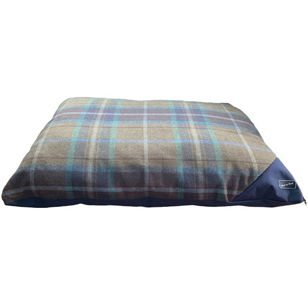 Hem and Boo Luxury Country Check Navy Deep Filled Mattress, Dog Supplies by Dogs Dogs Dogs