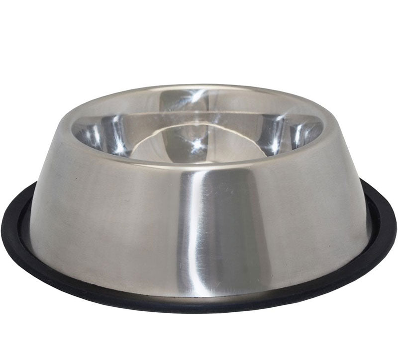 Non Slip Stainless Steel Spaniel Bowl, Pet Bowls, Feeders & Waterers by Dogs Dogs Dogs