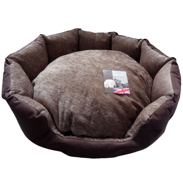 Hem and Boo Oval Snuggle Bed - Brown, Dog Beds by Dogs Dogs Dogs