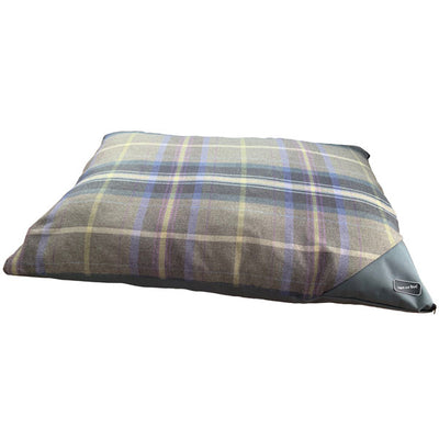 Hem and Boo Luxury Country Check Grey Deep Filled Mattress