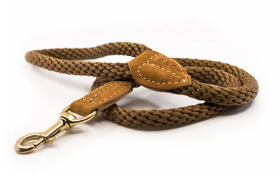 Ralph and Co Braided Rope Dog Lead - Olive Brown