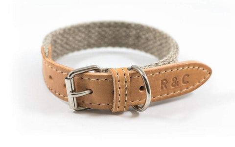Ralph and Co Fabric & Leather Dog Collar - Hammersmith