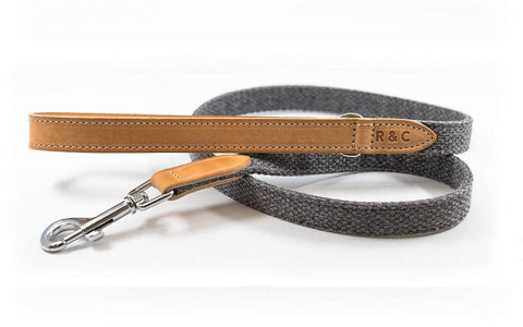 Ralph and Co Fabric & Leather Dog Lead - Windsor