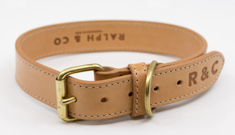Ralph and Co Leather Dog Collar - Trieste