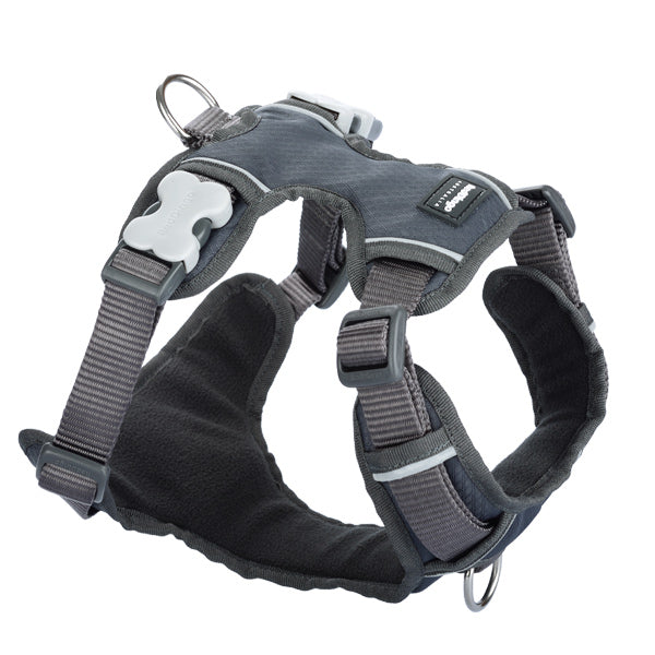 Red Dingo Padded Harness - Grey