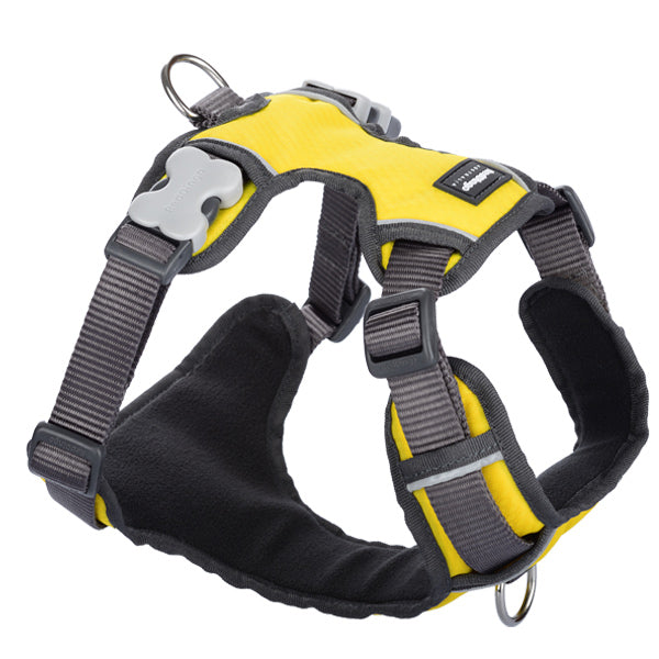 Red Dingo Padded Harness - Yellow, Pet Collars & Harnesses by Dogs Dogs Dogs