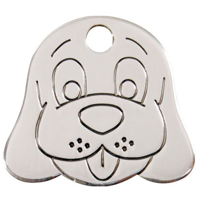 Red Dingo Stainless Steel Dog Face Dog Tag