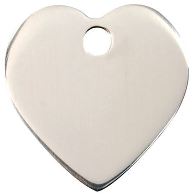Red Dingo Stainless Steel Heart Dog Tag
