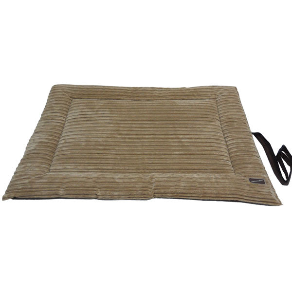 Corded Waterproof Roll-up Travel Mat - Tan & Brown, Dog Beds by Dogs Dogs Dogs