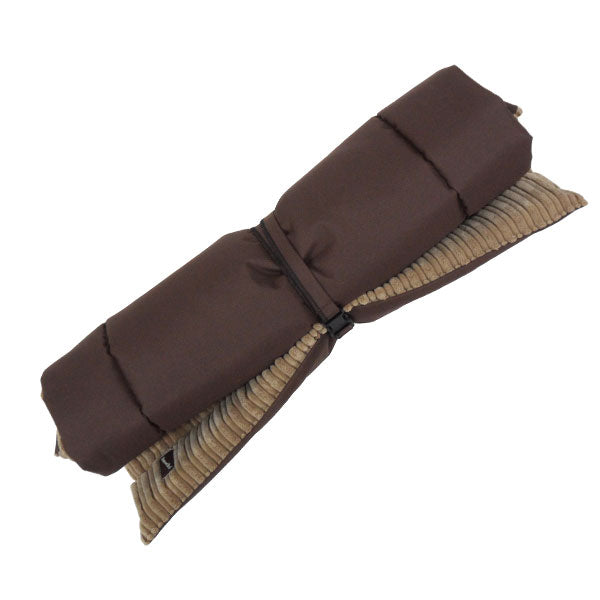 Corded Waterproof Roll-up Travel Mat - Tan & Brown