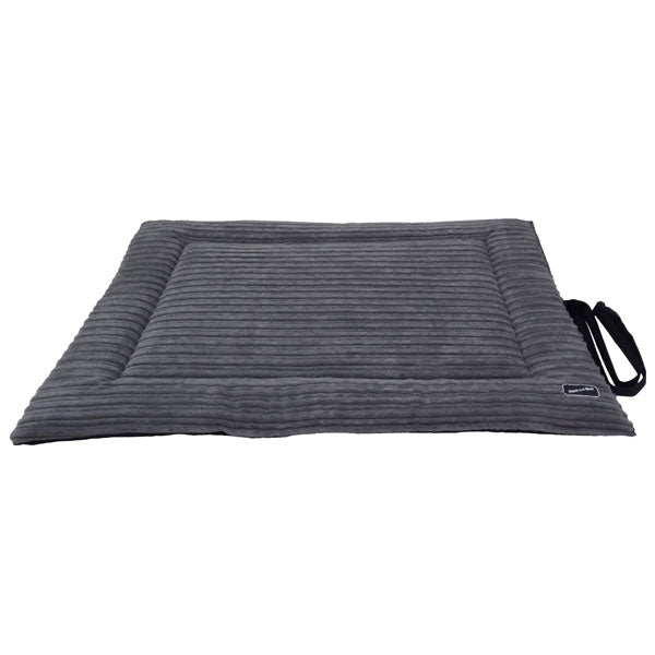 Corded Waterproof Roll-up Travel Mat - Grey & Black, Dog Beds by Dogs Dogs Dogs