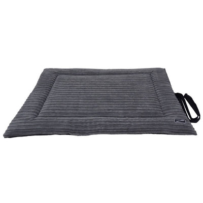 Corded Waterproof Roll-up Travel Mat - Grey & Black