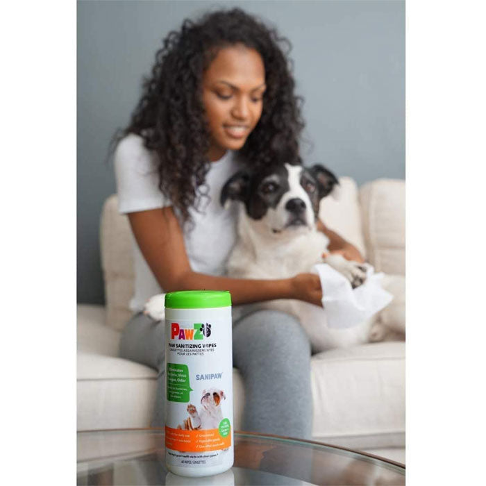 Pawz SaniPaw Dog Paw Sanitising Wipes, Pet Wipes by Dogs Dogs Dogs