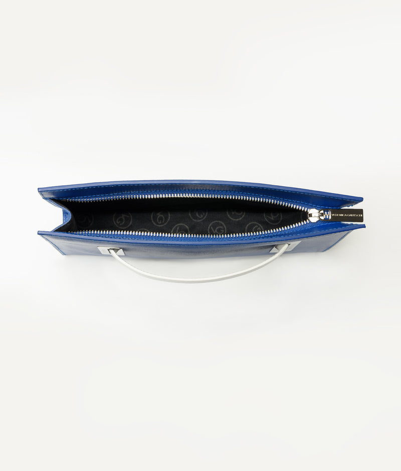 The Clutch Blue Mykonos - Pure White