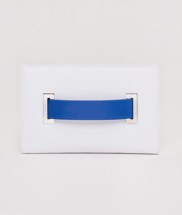 The Clutch Pure White - Blue Mykonos