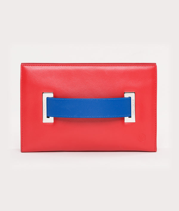 The Clutch Red Passion - Blue Mykonos