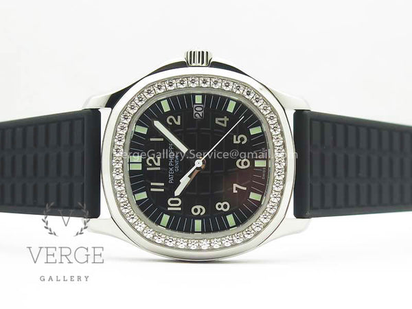 PATEK AQUANAUT 5067A BLACK TEXTURED DIAL ON BLACK RUBBER STRAP JJF