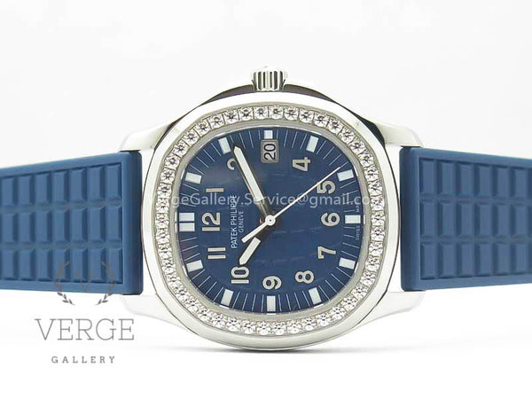 PATEK AQUANAUT 5067A BLUE TEXTURED DIAL ON BLUE RUBBER STRAP JJF