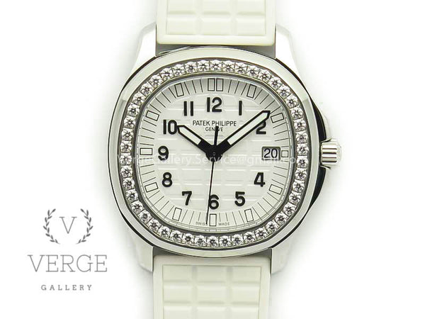 PATEK AQUANAUT 5067A WHITE TEXTURED DIAL ON WHITE RUBBER STRAP JJF