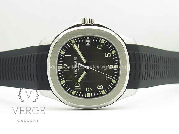 PATEK AQUANAUT 5167 SS GRAY DIAL ON RUBBER STRAP ZF