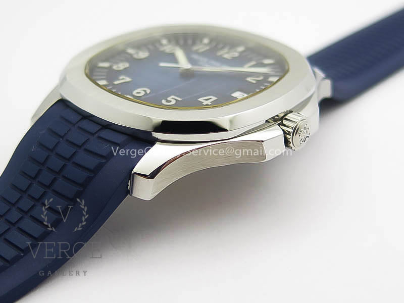 PATEK AQUANAUT JUMBO SS BLUE DIAL ON BLUE RUBBER STRAP ZF