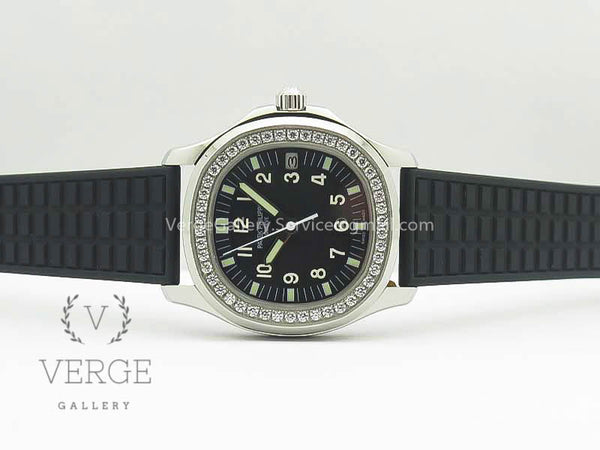 PATEK AQUANAUT JUMBO 5069G SS BLACK DIAL ON BLACK RUBBER STRAP