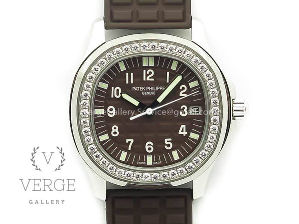 PATEK AQUANAUT JUMBO 5069G SS BROWN DIAL ON BROWN RUBBER STRAP