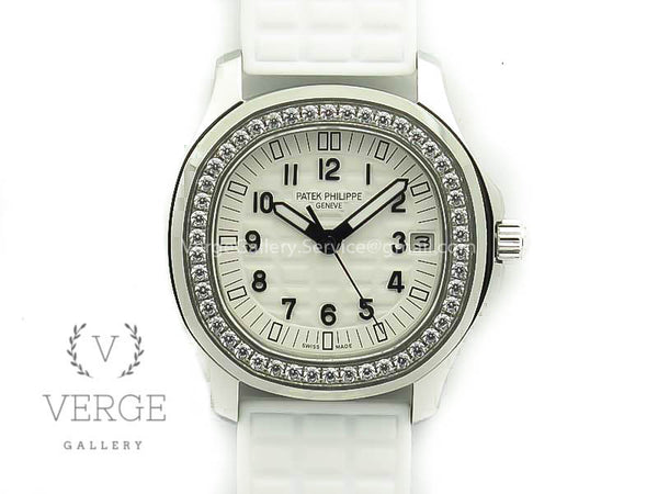 PATEK AQUANAUT JUMBO 5069G SS WHITE DIAL ON WHITE RUBBER STRAP