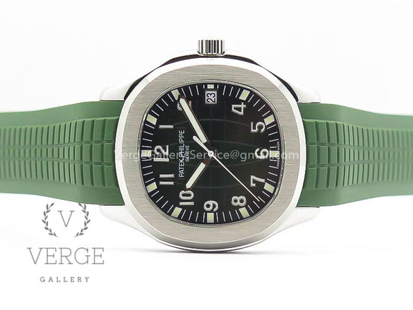 PATEK AQUANAUT SS GREEN DIAL ON GREEN RUBBER STRAP MP