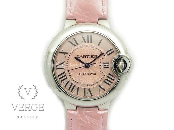 BALLON BLEU 33MM SS PINK TEXTURED DIAL ON PINK LEATHER STRAP CAL.076 AF