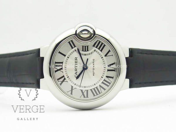 BALLON BLEU 33MM SS WHITE TEXTURED DIAL ON BLACK LEATHER STRAP CAL.076 AF