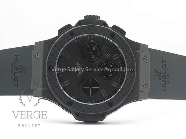 BIG BANG 44MM FULL CARBON FIBER CF DIAL BLACK MARKERS/HANDS ON BLACK RUBBER STRAP 3AF