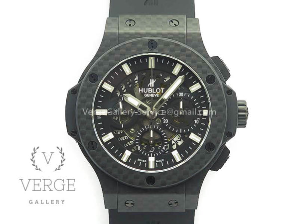 BIG BANG 44MM FULL CARBON FIBER SKELETON DIAL ON BLACK RUBBER STRAP 3AF