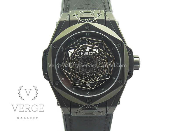 BIG BANG SANG BLEU DLC SKELETONAL DIAL ON GUMMY STRAP ASIAN TMF