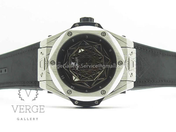 BIG BANG SANG BLEU SS SKELETONAL DIAL ON GUMMY STRAP ASIAN TMF