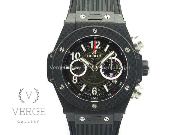 BIG BANG UNICO 45MM CARBON BLACK DIAL ON RUBBER STRAP 3AF