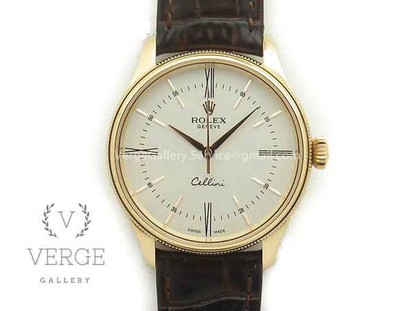CELLINI TIME 50509 RG WHITE DIAL ROMAN MARKER ON BROWN LEATHER STRAP V4 MK