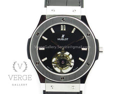 CLASSIC FUSION REAL TOURBILLON 45MM SS BLACK DIAL ON GUMMY STRAP TF