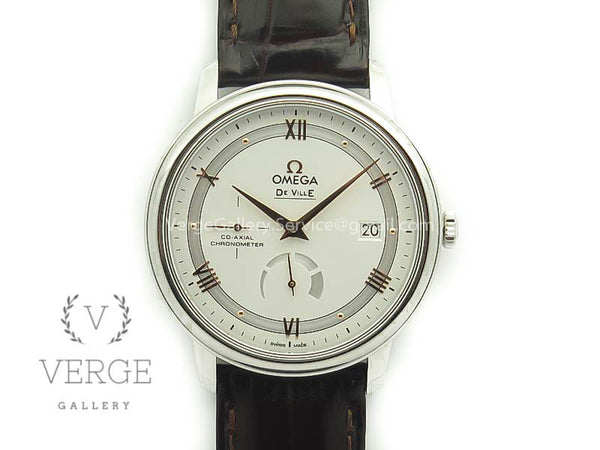 DE VILLE PRESTIGE REAL POWER RESERVE SS WHITE DIAL RG MARKERS ON LEATHER STRAP TW
