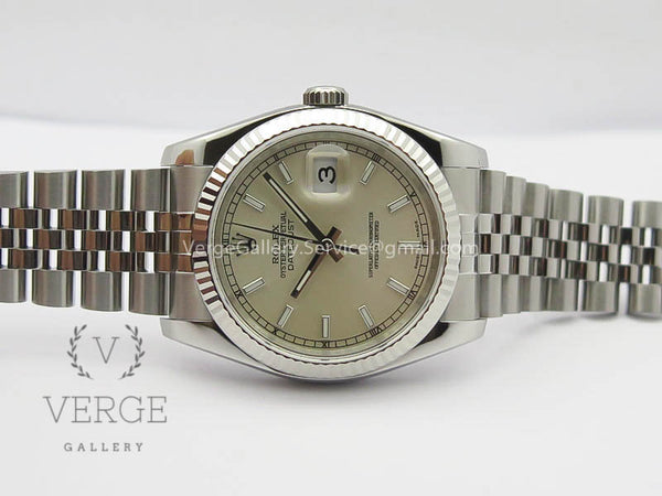 DATEJUST 36MM SS 116234 SILVER DIAL ON SS JUBILEE BRACELET ARF