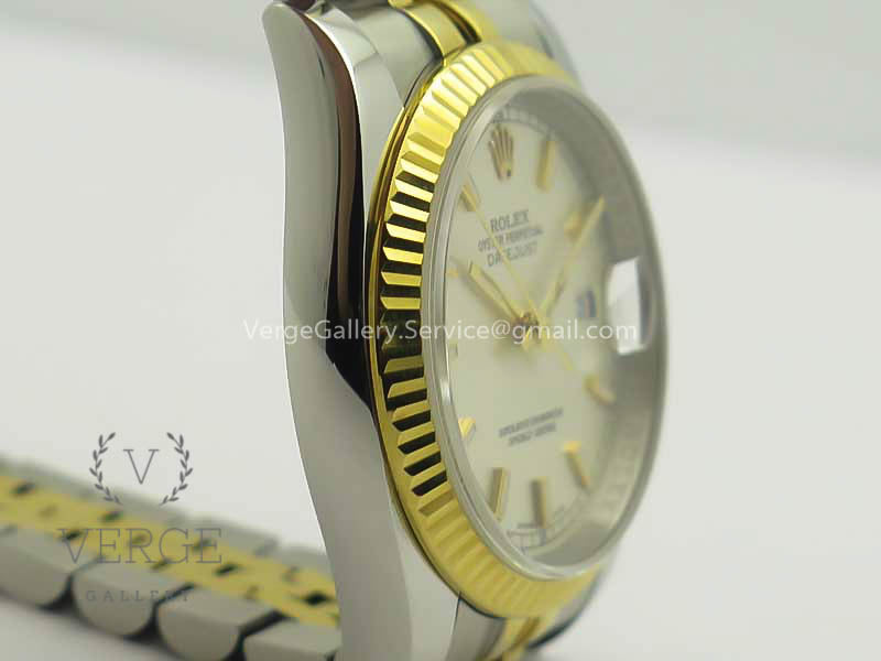 DATEJUST 36 SS/YG 126233 SILVER DIAL STICK MARKERS ON SS/YG JUBILEE BRACELET ARF