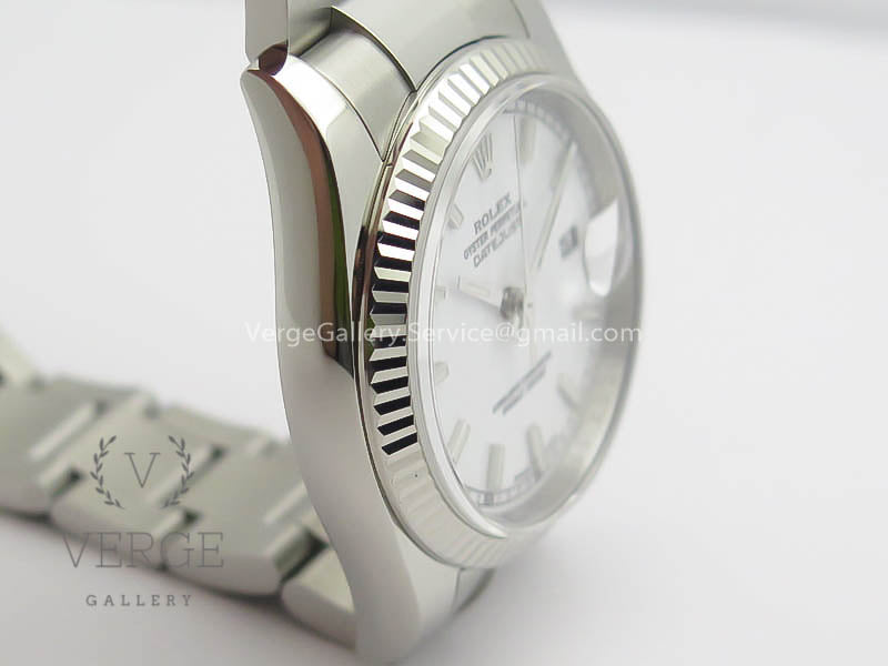 DATEJUST 36MM SS 116234 WHITE DIAL STICK MARKERS ON SS OYSTER BRACELET ARF
