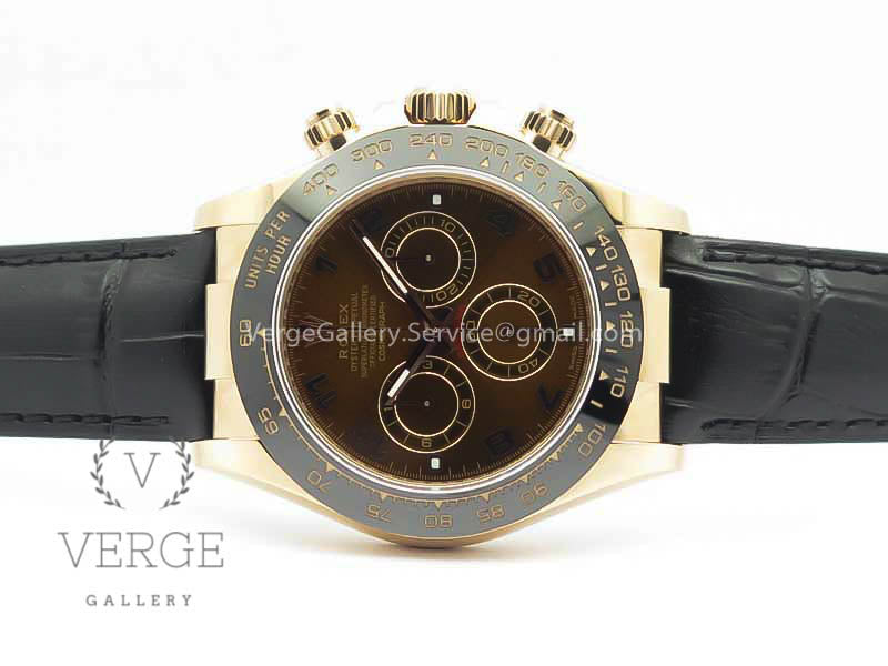 DAYTONA 116515 RG CHOCOLATE DIAL ON LEATHER STRAP NOOB