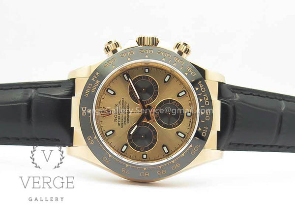 DAYTONA 116515 RG ROSE GOLD DIAL ON LEATHER STRAP NOOB