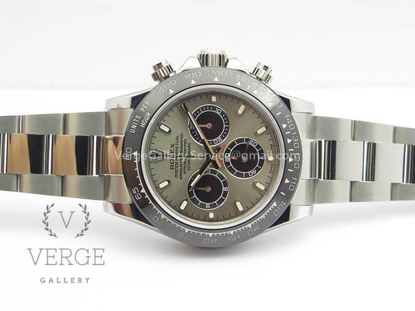DAYTONA 116519LN GRAY DIAL CERAMIC BEZEL ON SS BRACELET JH