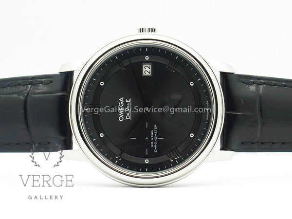 DE VILLE PRESTIGE REAL POWER RESERVE SS GRAY DIAL ON LEATHER STRAP TW