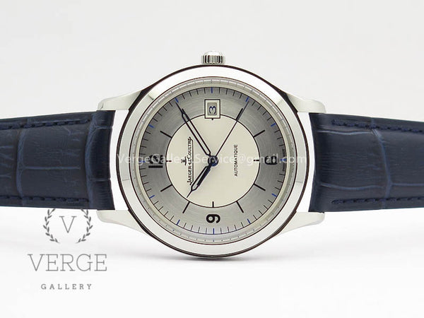 MASTER CONTROL DATE 1548530 SS WHITE DIAL ON BLUE LEATHER STRAP ZF